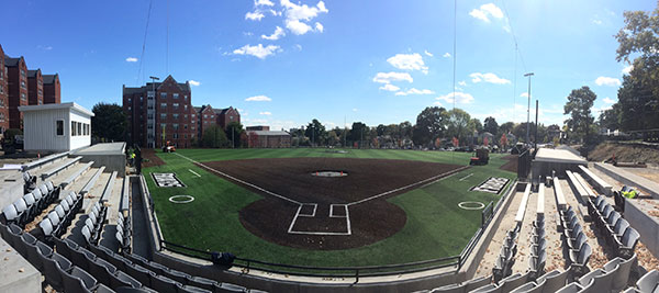 Glay Field nearing completion