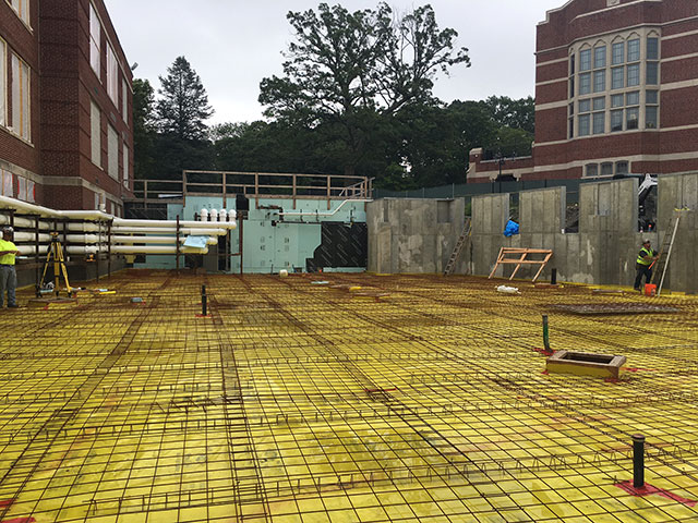 Hickey Hall addition slab