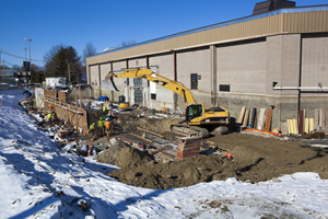 Schneider Arena construction, Jan 2013