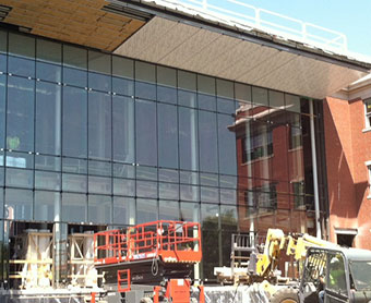 Ryan Center glass wall