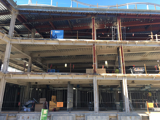 Science complex 2nd floor duct work