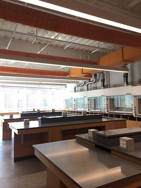 Interior room for new science complex, coming in August 2018