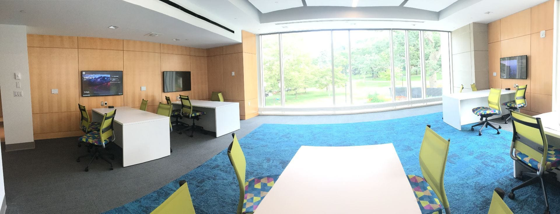 Science complex student commons area