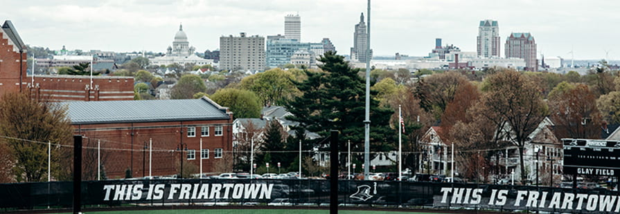 Photo of Friar Softball Complex and Skyline of City of Providence