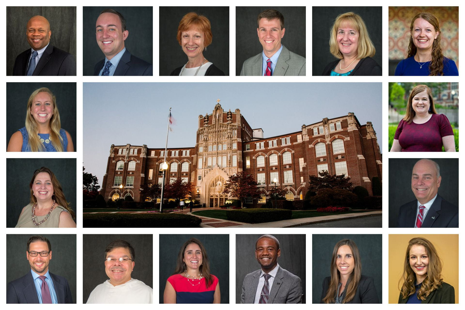 Collage of photos of the admission counseling staff.