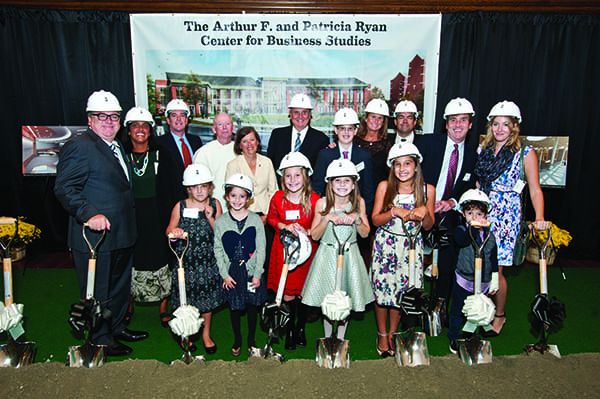 The Ryan family at the groundbreaking. (Ashley McCabe Photo)
