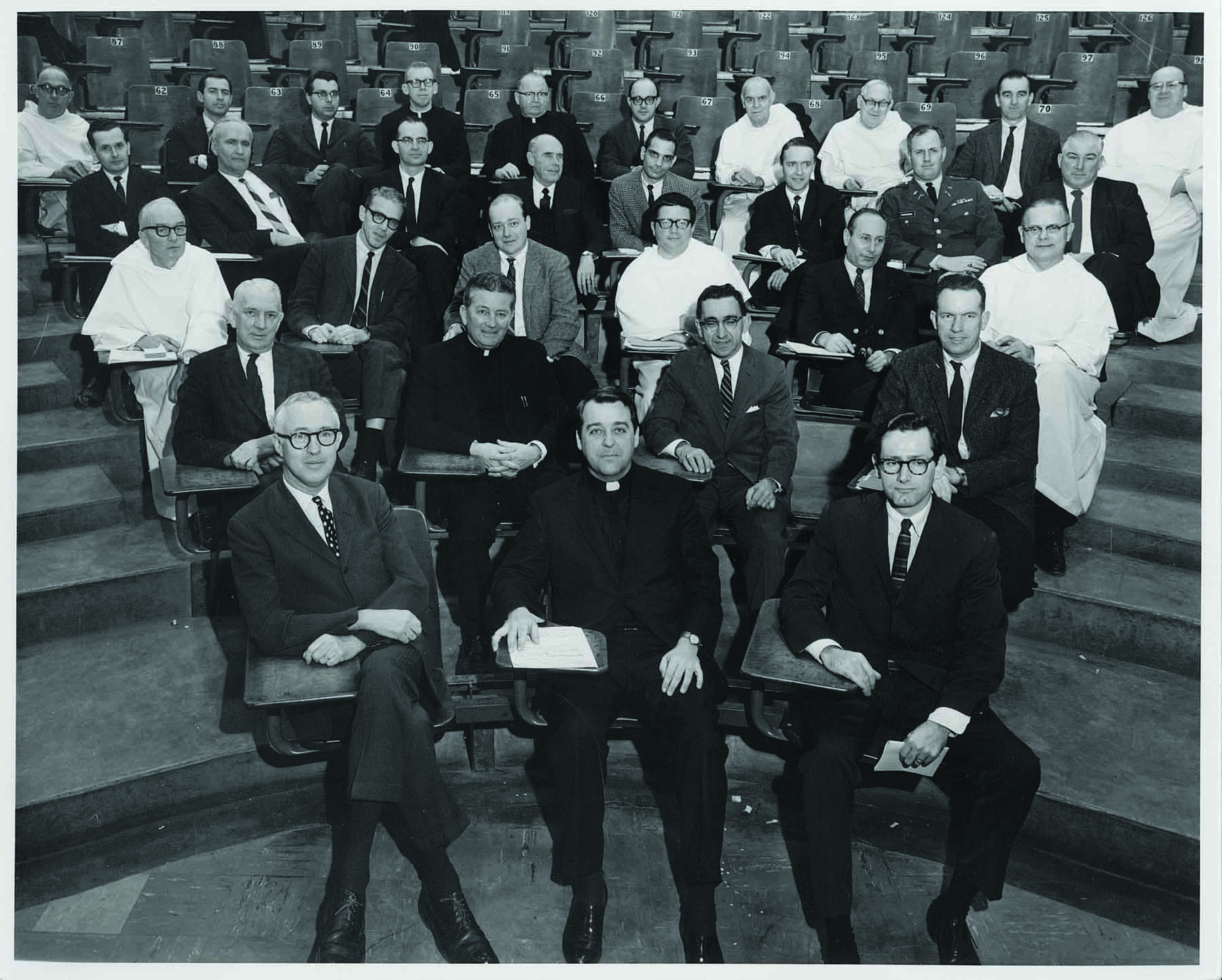 The all-male Faculty Senate convenes its first meeting on Jan. 31, 1968.