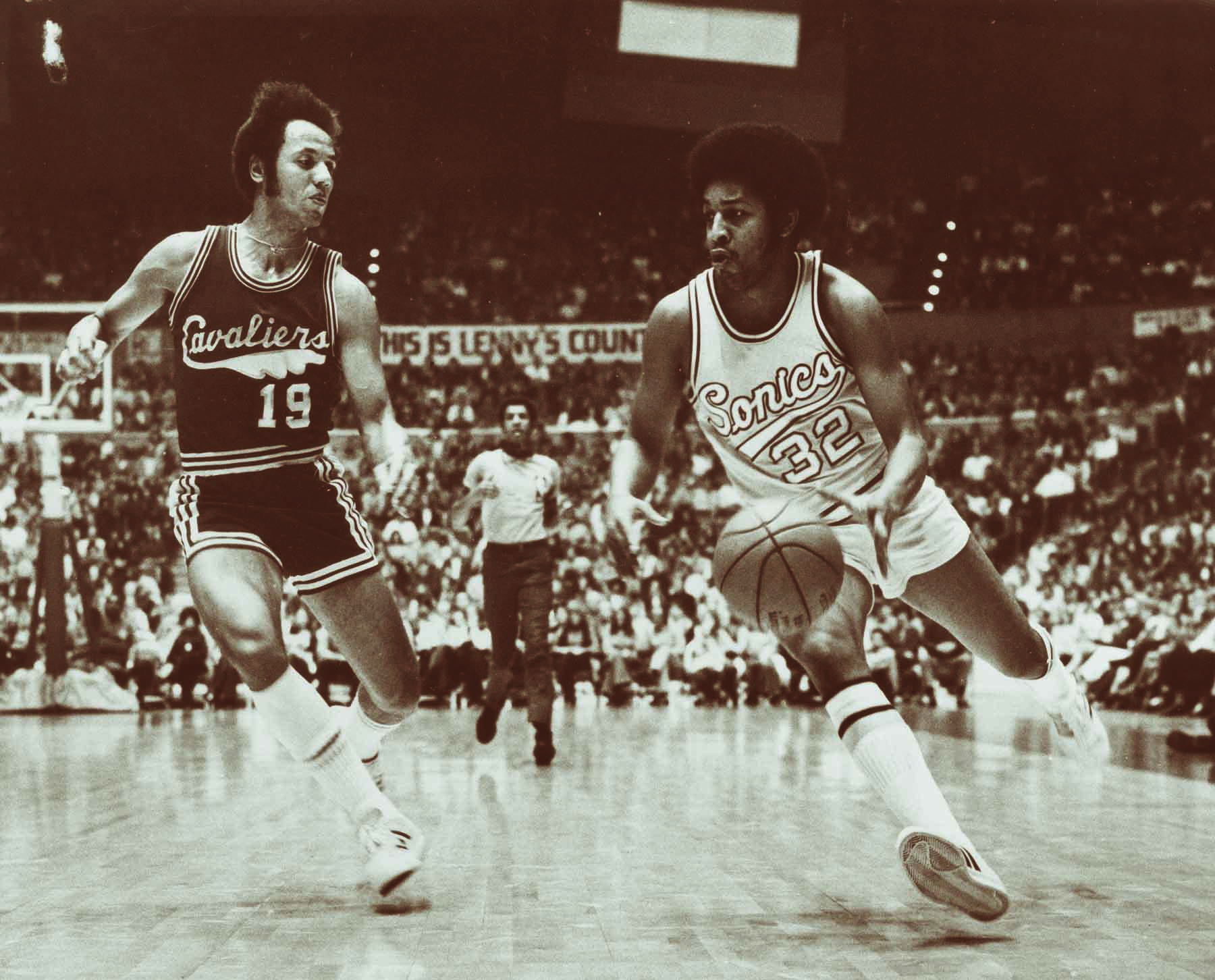 "In 1972, Seattle was still ""Lenny's Country"" though Wilkens, left, had been traded to the Cavaliers."