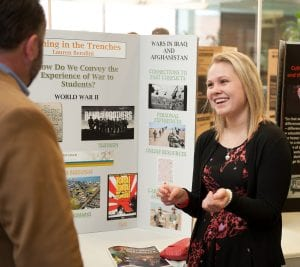Lauren Berolini '17 discusses her project at the 2016 annual Celebration of Scholarship and Creativity 2016.