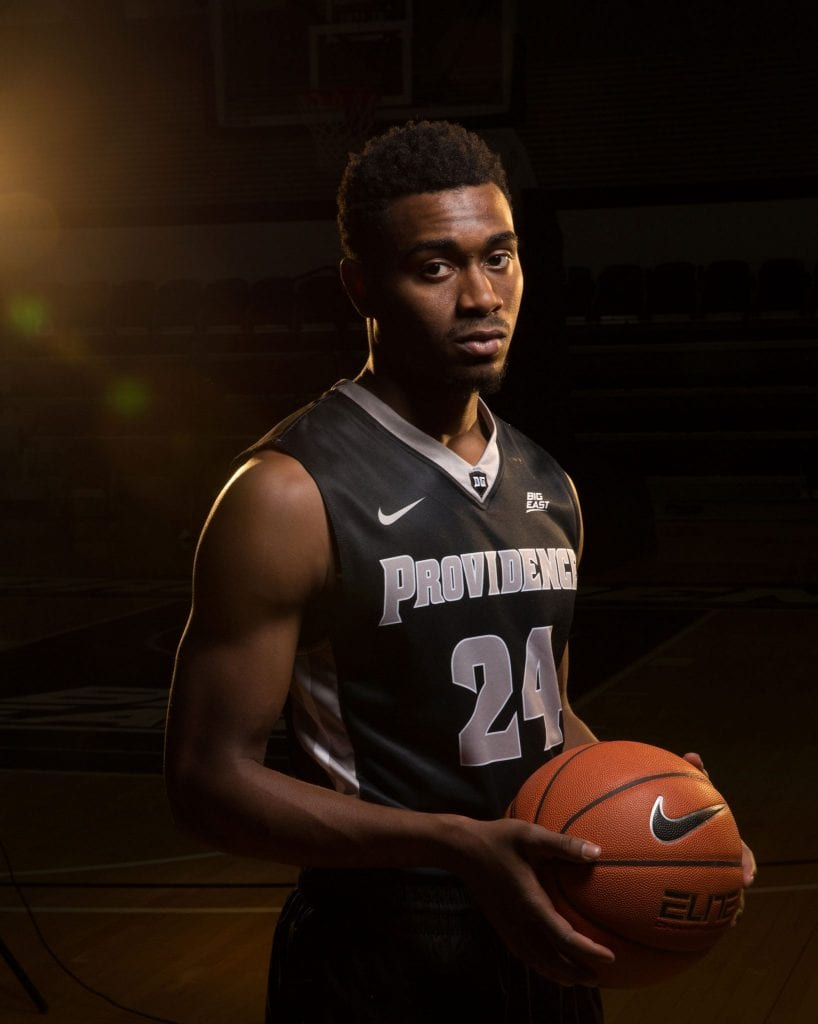 Kyron Cartwright '18 is a member of the men's basketball team.