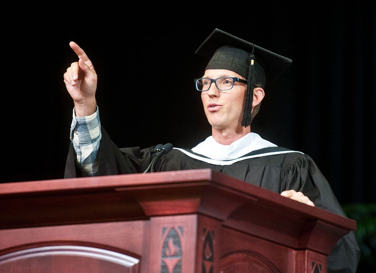 """Spare Parts"" author Joshua Davis advised students to ""push yourself into something uncomfortable"" in his convocation address."
