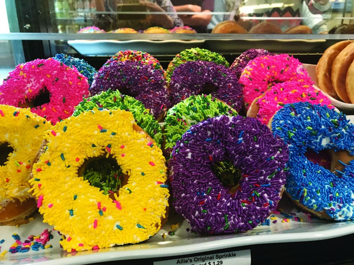 Providence College is the only campus where you'll find Allie's Donuts. These Rhode Island favorites are available Tuesday through Friday at the Ruane Café in the Ruane Center for the Humanities and at the Eaton Street Café in the Arthur F. and Patricia Ryan Center for Business Studies, the home of the Providence College School of Business.