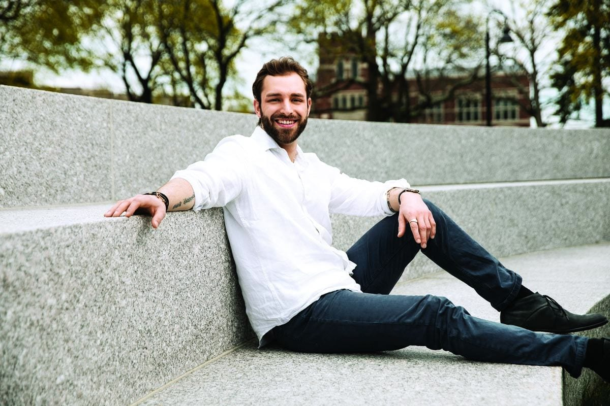 Andrew Konnerth '17 was president of Student Congress and active in many organizations and social causes.