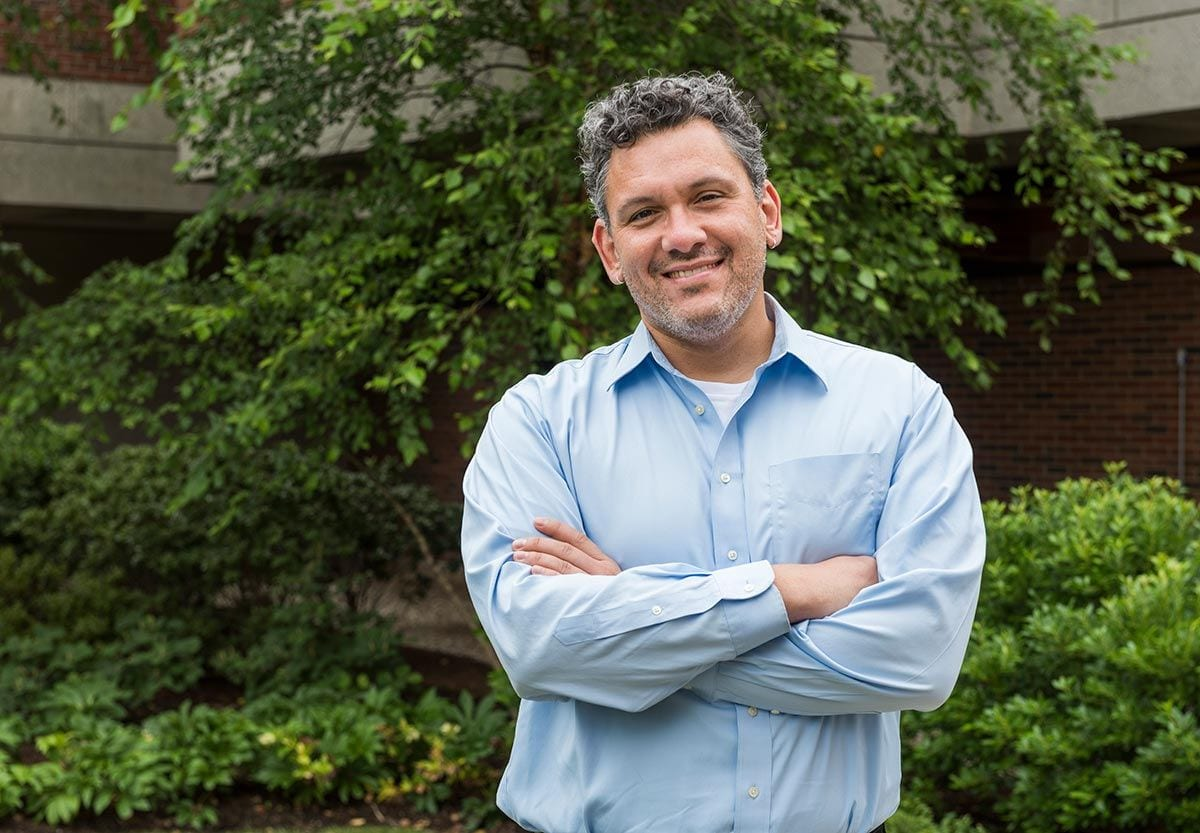 Dr. Christopher Arroyo, associate professor of philosophy, is the recipient of the 2017 Joseph R. Accinno Faculty Teaching Award, PC's top teaching honor.