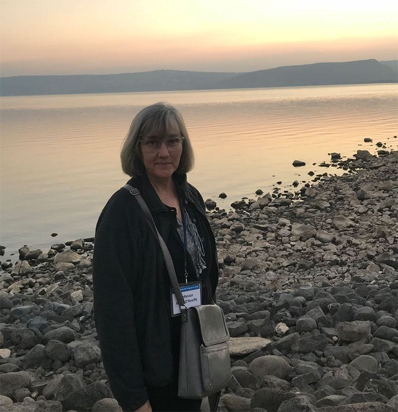 Dr. Mary O'Keeffe visits the Sea of Galilee.