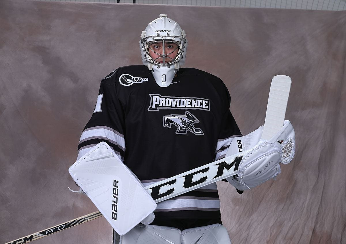 Former PC hockey club goaltender Jake Beaton '18, who was given a rare opportunity to play for the Friars' varsity team his senior year, has secured a position with EY after graduation.
