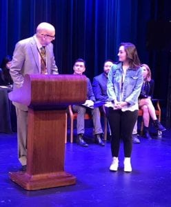 Jennifer Dorn '18 is named the winner in theatre criticism at the John F. Kennedy Center for the Performing Arts in Washington, D.C.