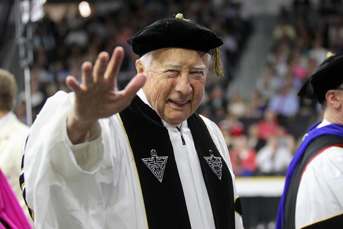 Historian and author David McCullough '18Hon. at the One Hundredth Commencement Exercises of Providence College.