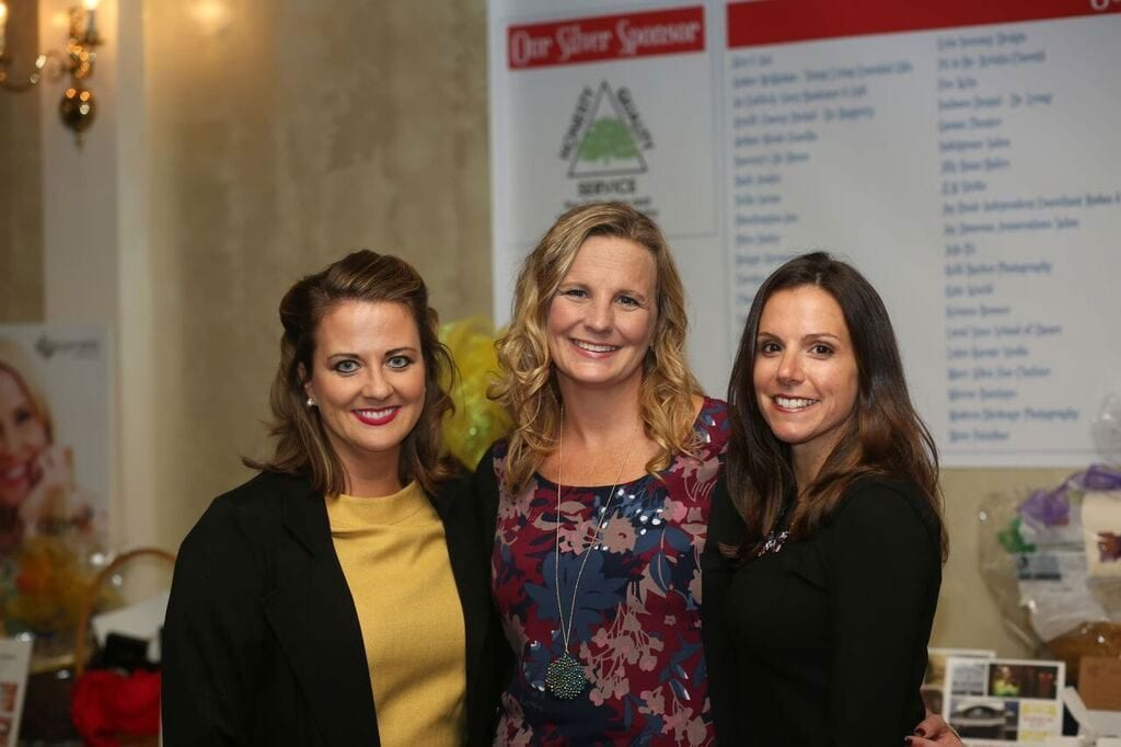 The co-founders of Sisters @ Heart, from left: Jamie O'Hanlon, Lisa Deck, and Caitlan Kane  (Angela Wood Photography)