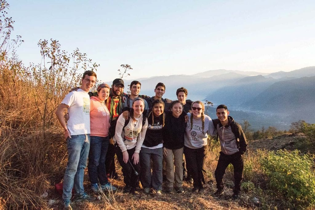 Students in Global Service and Solidarity traveled to a mission on the shore of Guatemala's Lake Atitlán during spring break.