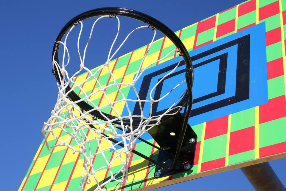 New backboards, hoops, and nets were part of the restoration project at Fargnoli Park.