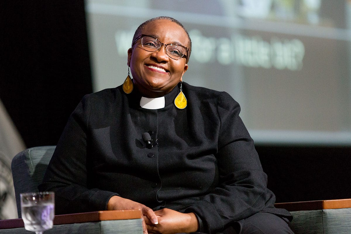 Rev. Nontombi Naomi Tutu, who presented the keynote address at the College's second Rev. Dr. Martin Luther King Jr. Convocation, is an ordained Episcopal priest and human rights activist.