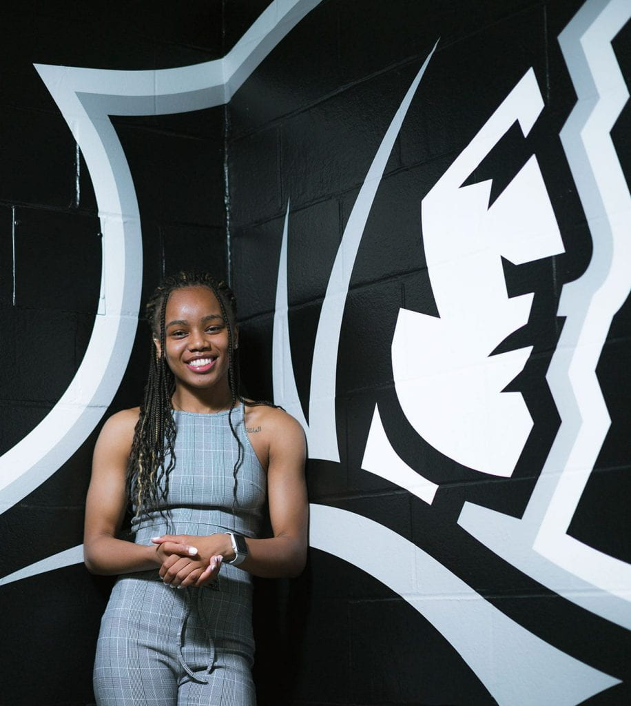 One of the top high school players in Michigan, Kaela Webb '22 had 20 college offers. She verbally committed to Marquette in 2016 before deciding to become a Friar.