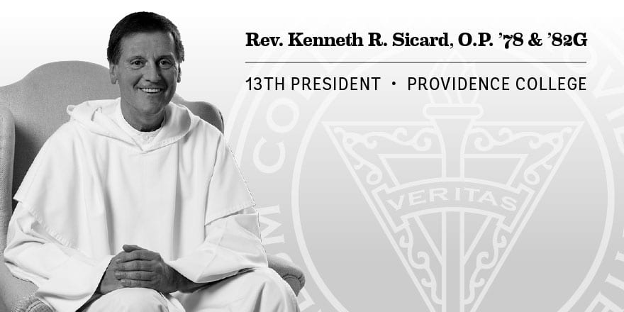 Rev. Kenneth Sicard was named the 13th president of Providence College.