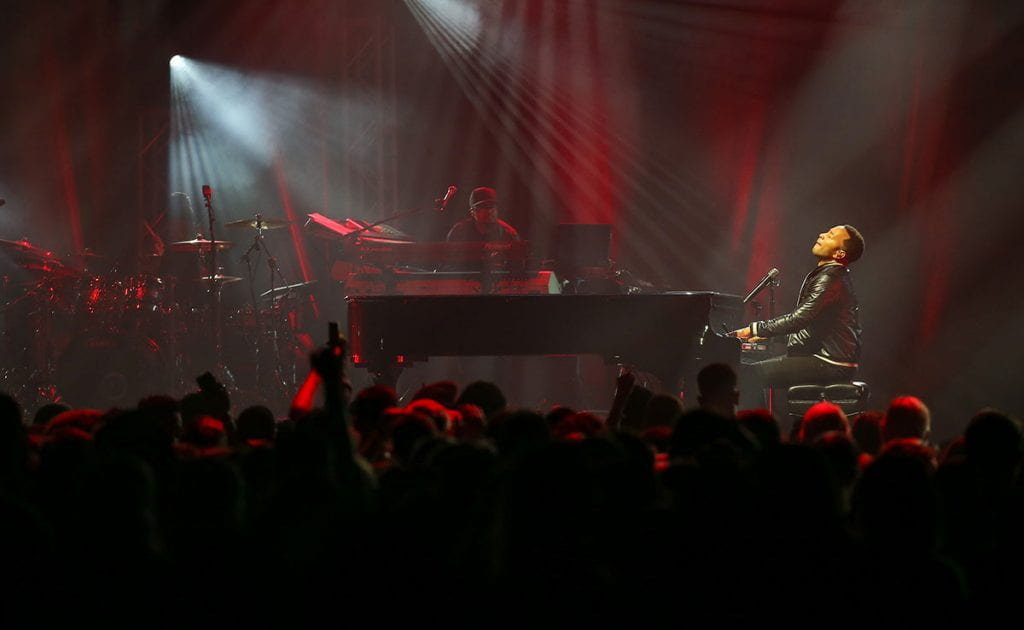 John Legend takes center stage at the Dunkin' Donuts Center in downtown Providence as part of Late Night Madness.