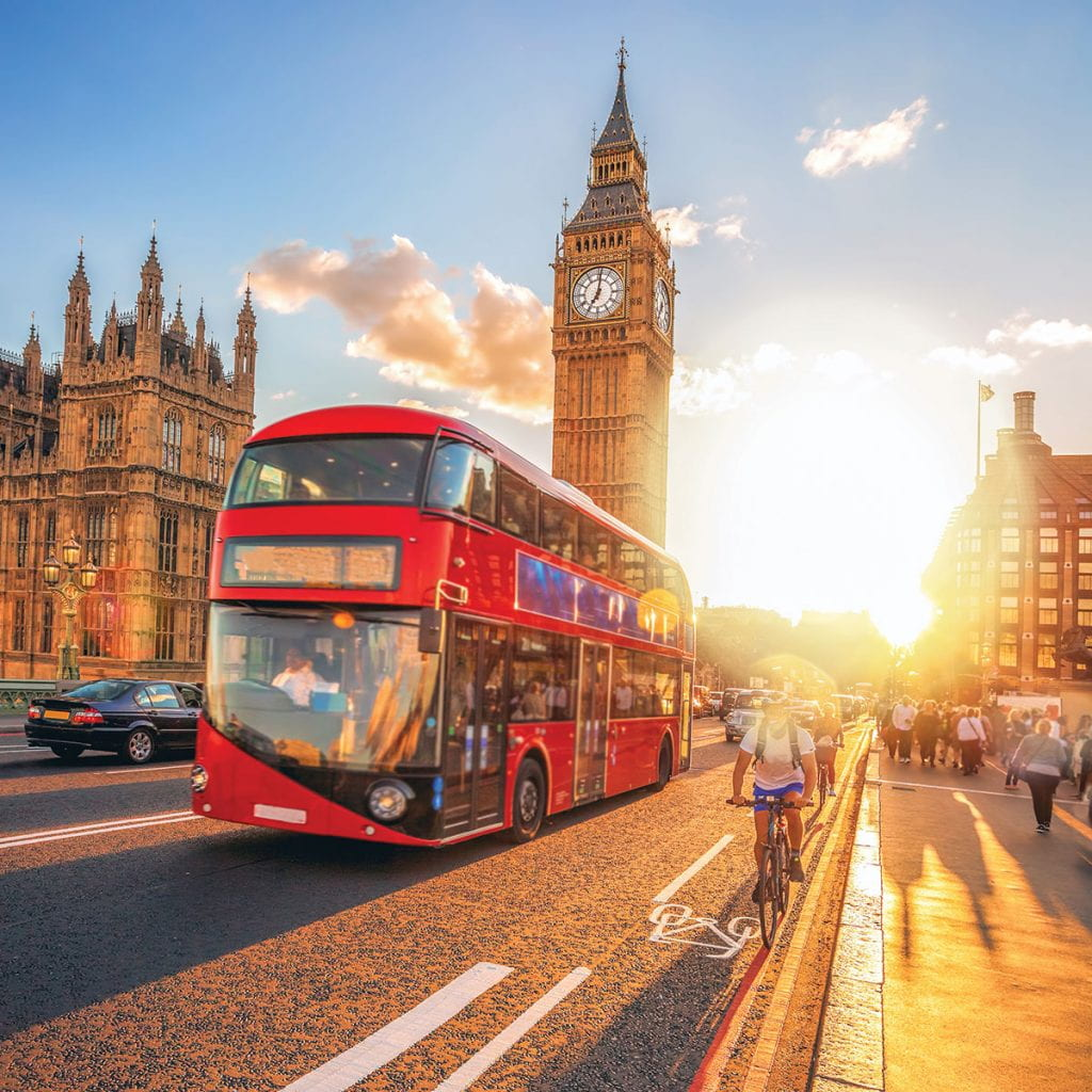 Double-decker buses and Big Ben will be familiar sights to students who study Development of Western Civilization in London beginning in 2021.