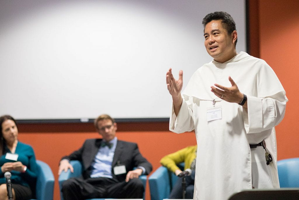 Providence College professor Rev. Nicanor Austriaco, O.P. is coordinating an international team of scholars who will address questions of evolution and the Christian faith.