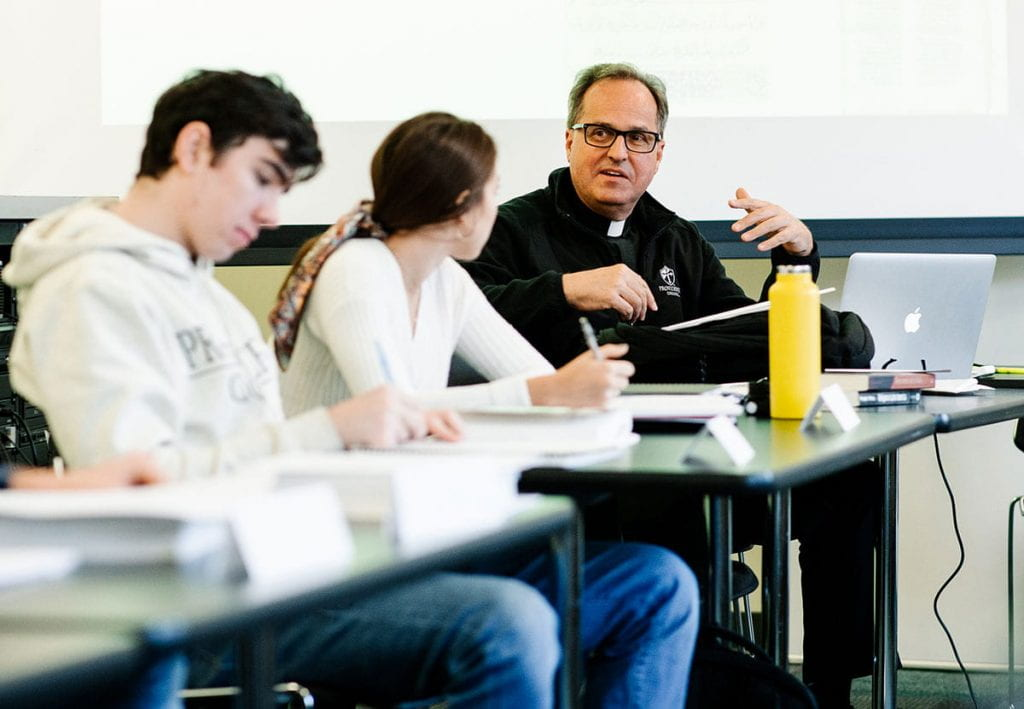 Rev. David T. Orique, O.P., right, will be co-teaching the new DWC colloquium, Cuba Libre: Global Commodities in Caribbean and Latin American History, in the spring 2020 semester.