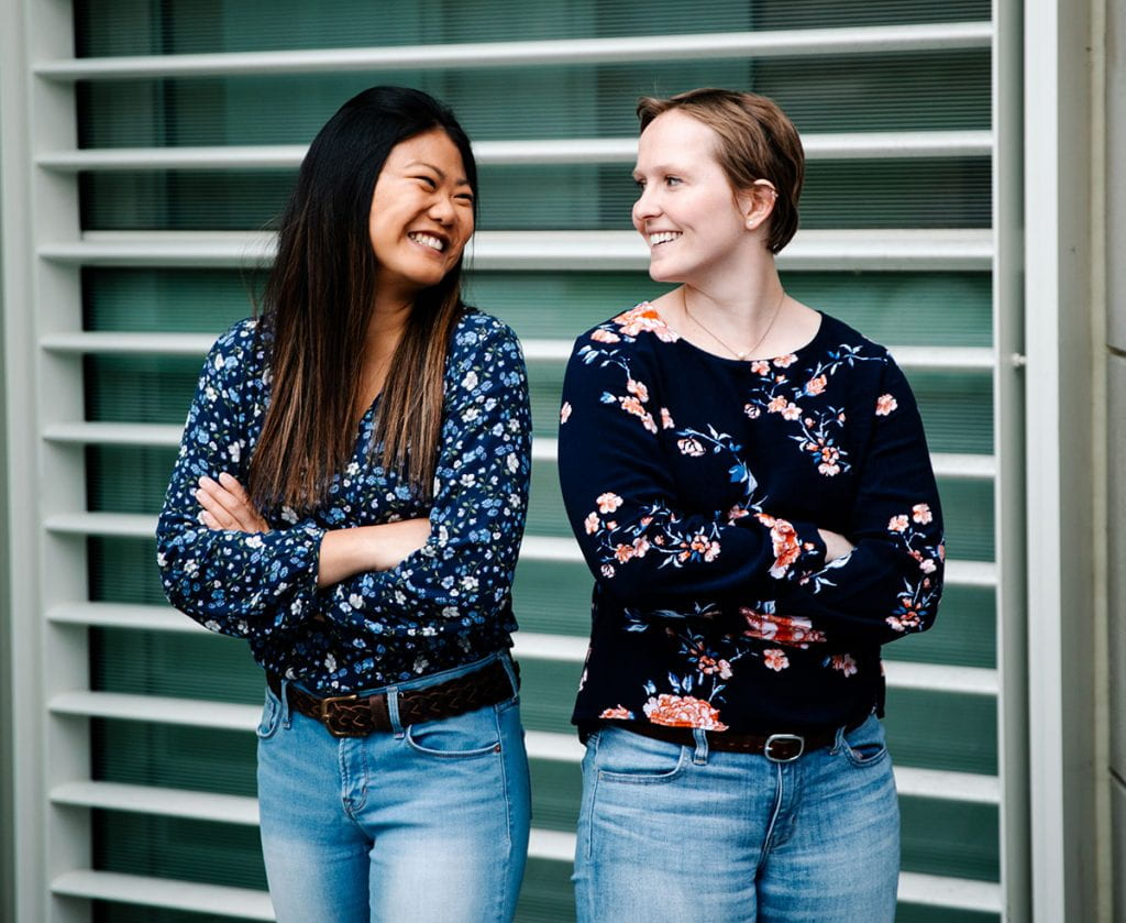 Clare Minnerath '20, right, and Julia Balukonis '20, a mathematics major, are Clare Booth Luce Scholars for the 2019-20 academic year.
