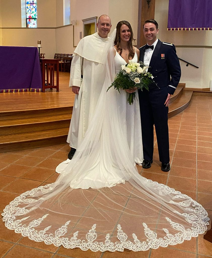Ryan Frazier '15 and Emma Beer '16 married on March 22, 2020 at St. Dominic Chapel.