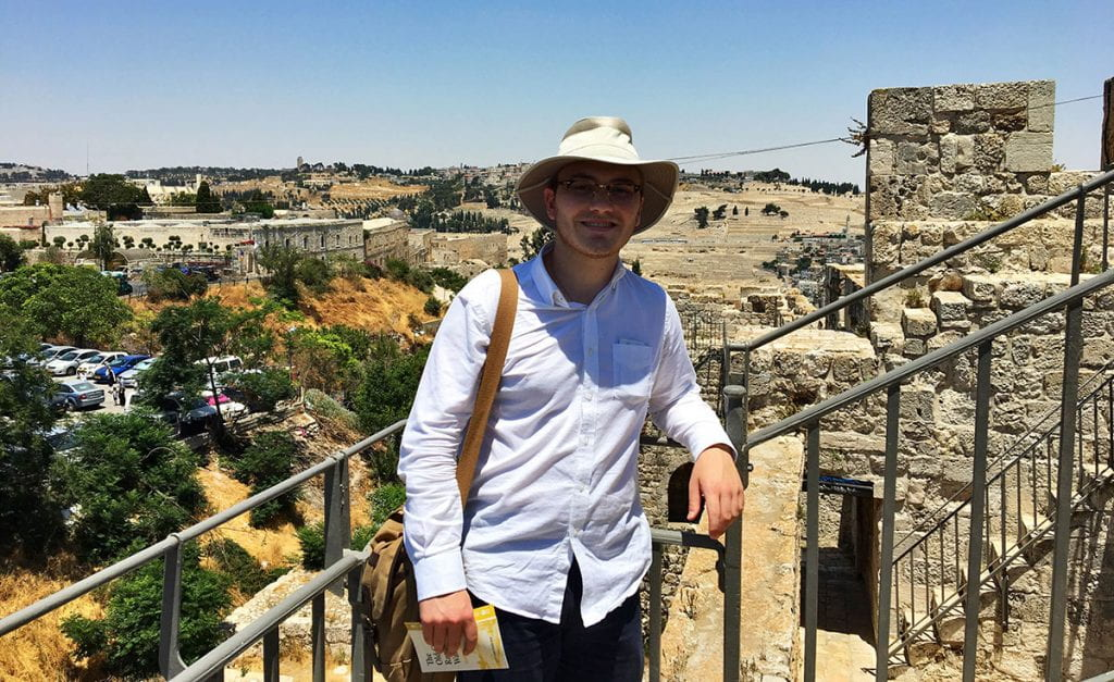 Sean Tobin '20 returned to Jerusalem last summer to study after being awarded a Father Philip A. Smith, O.P. Fellowship for Student Service and Study Abroad.