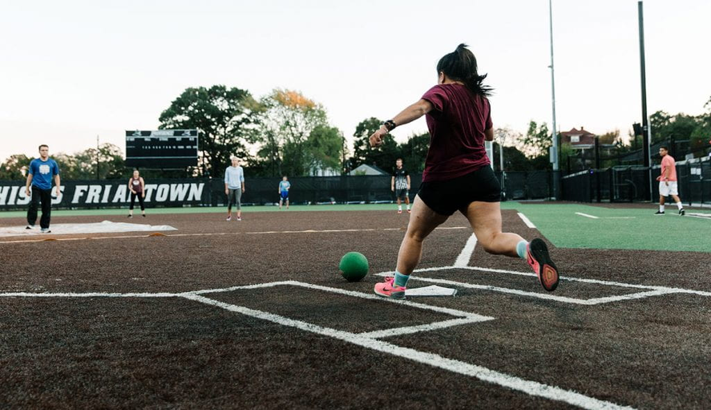 In addition to the traditional intramural offerings such as basketball, soccer, and softball, students can play table tennis, team handball, kickball, wallyball, dodgeball, badminton, ultimate frisbee, and water polo.