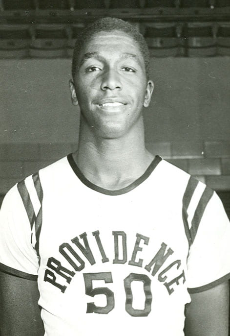 John Thompson '64, a First-Team All-American at PC his senior year, and Ray Flynn '63 led the Friars to the 1963 NIT title.