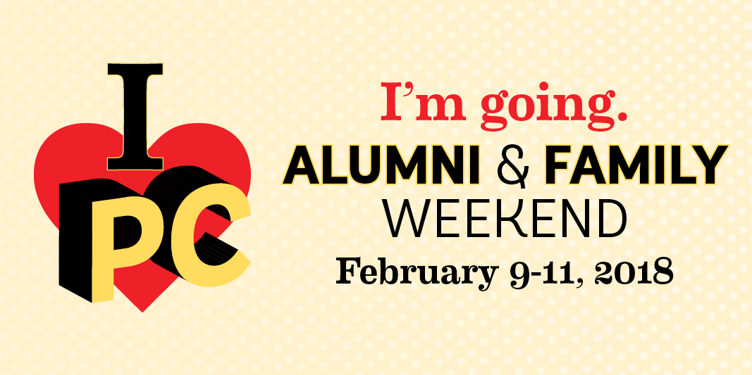 I'm going to Alumni & Family Weekend February 9-11, 2018