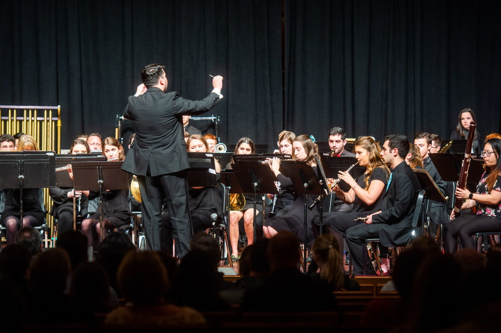 Eric Melley conducting Spring 2019 Symphonic Winds Concert