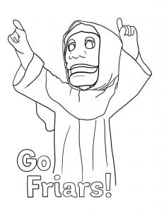 Image of Friar Dom coloring page