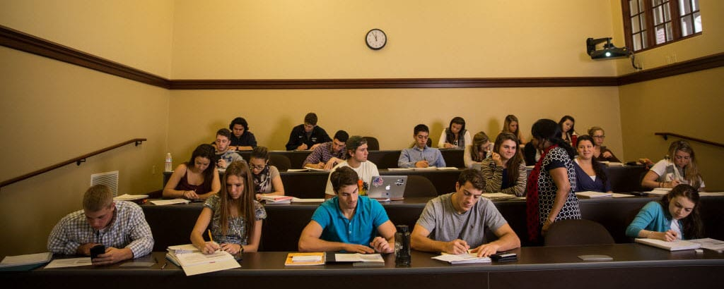 Providence College Harkins Hall Students Exam