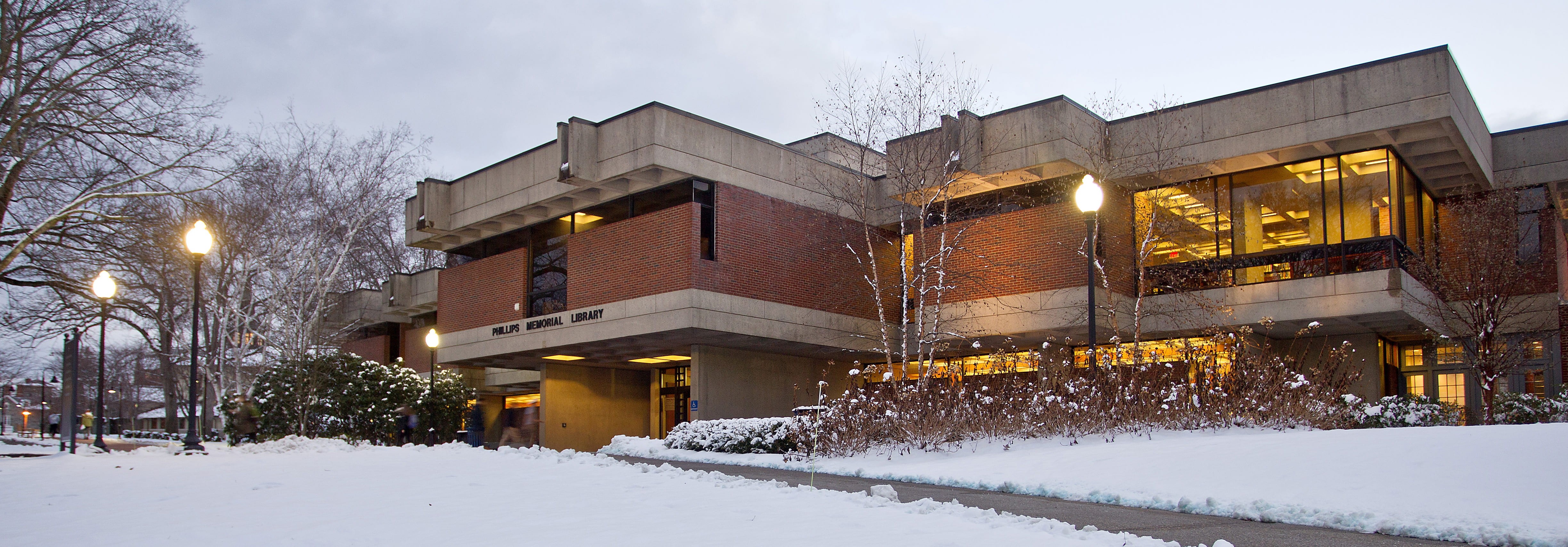 Providence College Office of the Registrar Snow Library Banner