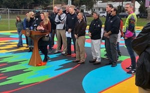 Opening Ceremony of basketball courts at Fargnoli Park