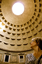 Joan Branham at the Pantheon
