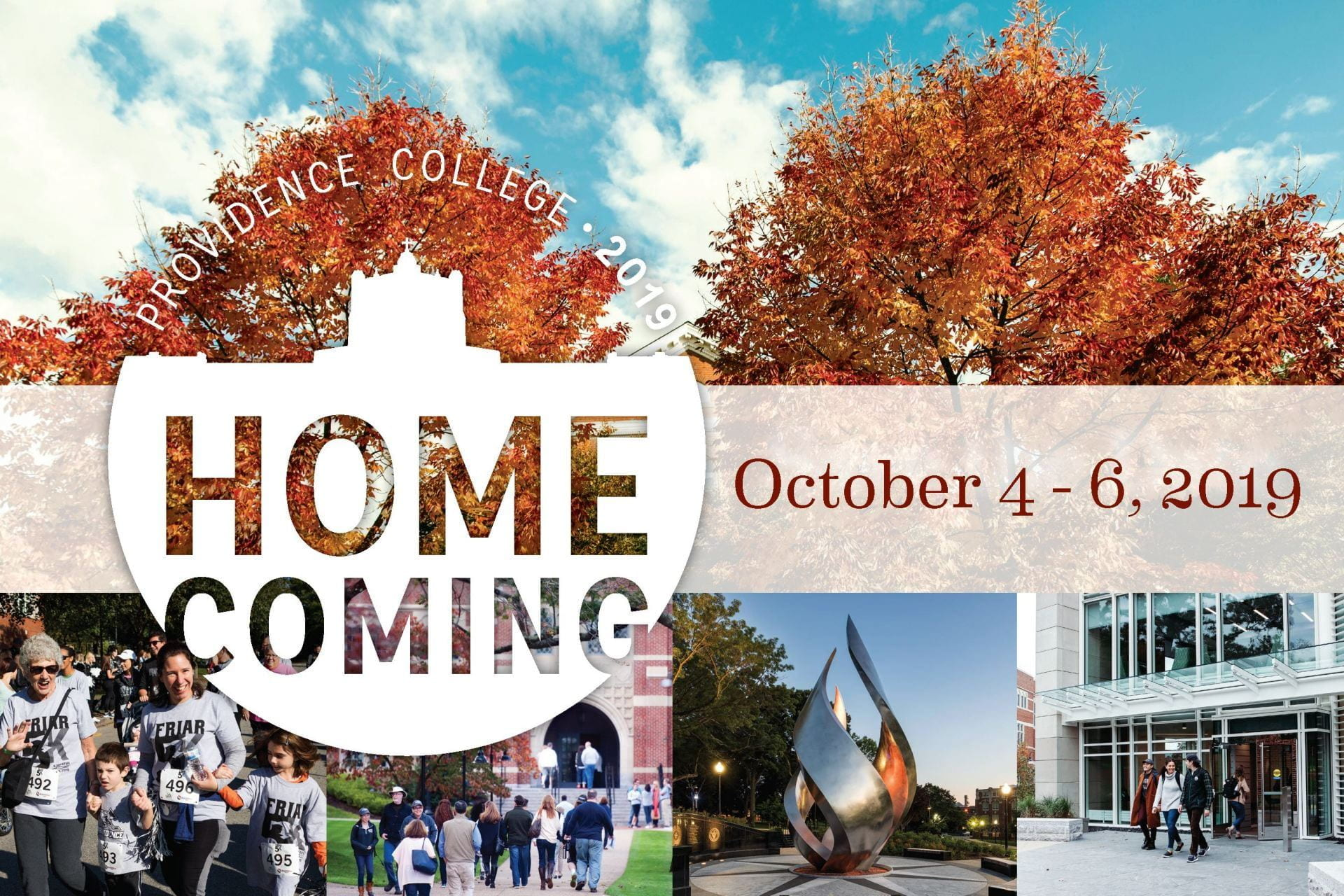pc homecoming 2019 october 4-6 postcard image