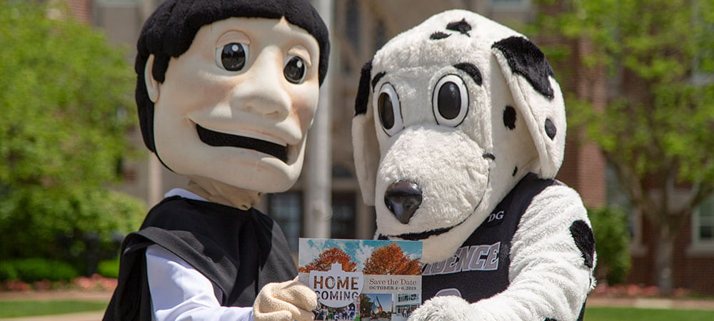 Friat Dom and Huxley Mascots