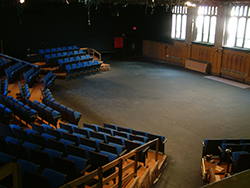 Harkins Theatre Before the construction of the Smith Center for the Arts in 2005, the theatre department used the lower floor of Harkins Hall for performances.