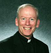 Photo of Father Shanley, president of Providence College