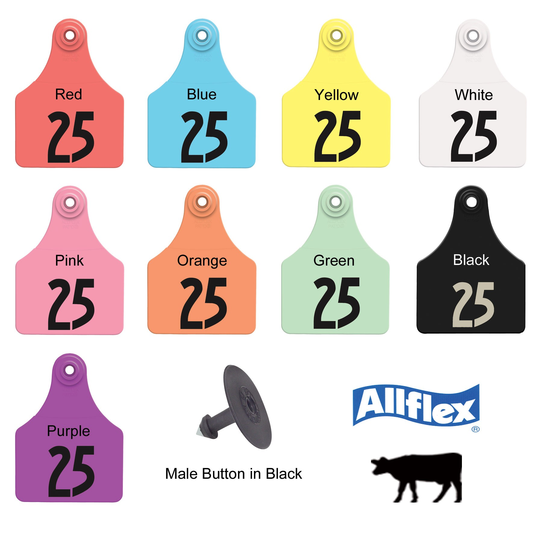 Here S A Closer View Of The Wide Selection Plastic Ear Tags