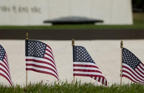 PSU Dear Hero program flags, 9-11